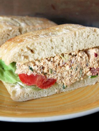 Greek Chicken Salad Sandwich -Creole Contessa