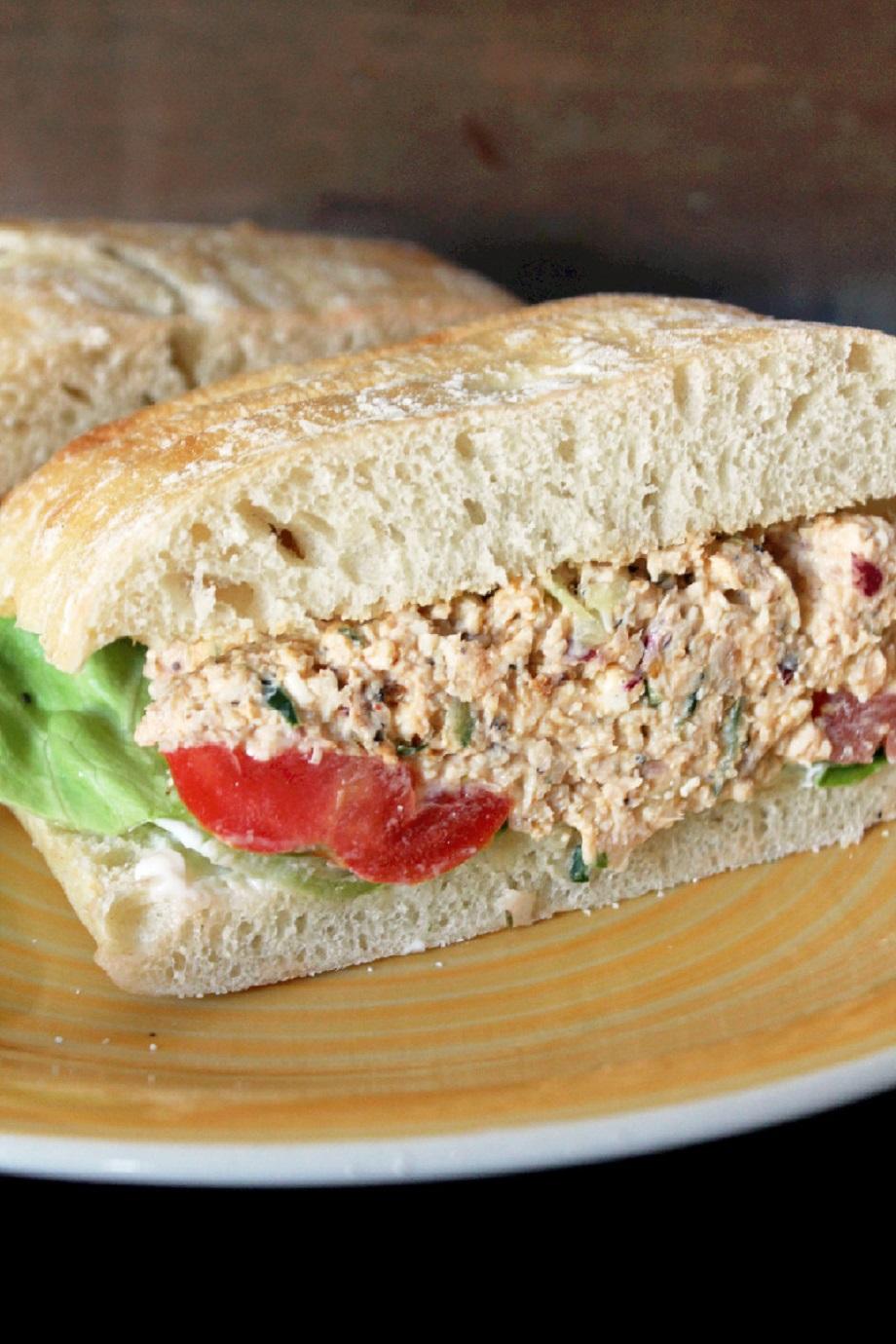 Greek Chicken Salad Sandwich - Creole Contessa