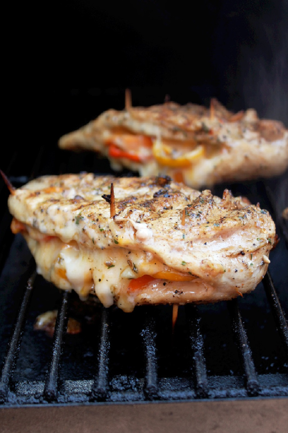 Grilled Chicken Stuffed With Cheese And Peppers Creole Contessa
