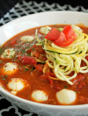 Zucchini Pasta with Tomato Sauce