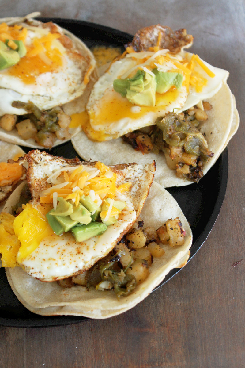 Hatch Chili Breakfast Tacos  -Creole Contessa