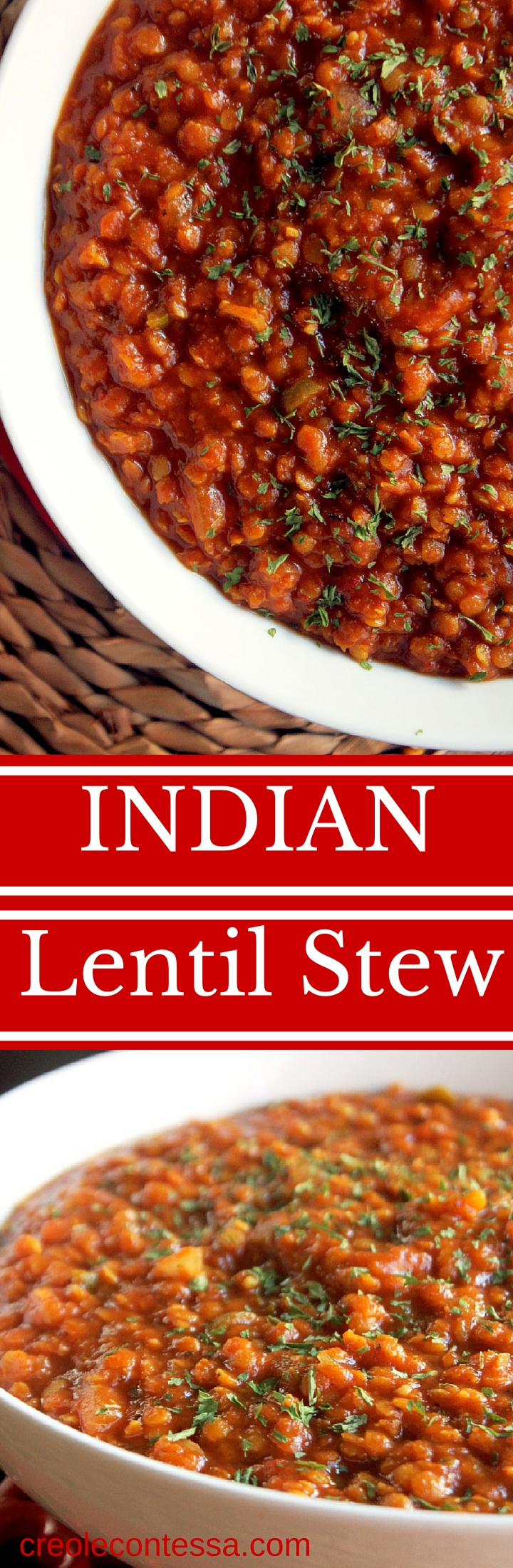 Slow Cooker Indian Lentil Stew - Creole Contessa