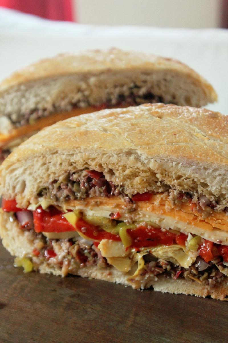 Vegetarian Muffuletta-Creole Contessa
