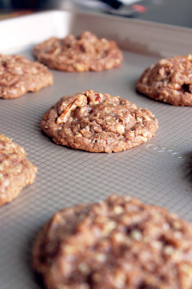 Nutella Oatmeal Pecan Chocolate Chip Cookies-Creole Contessa