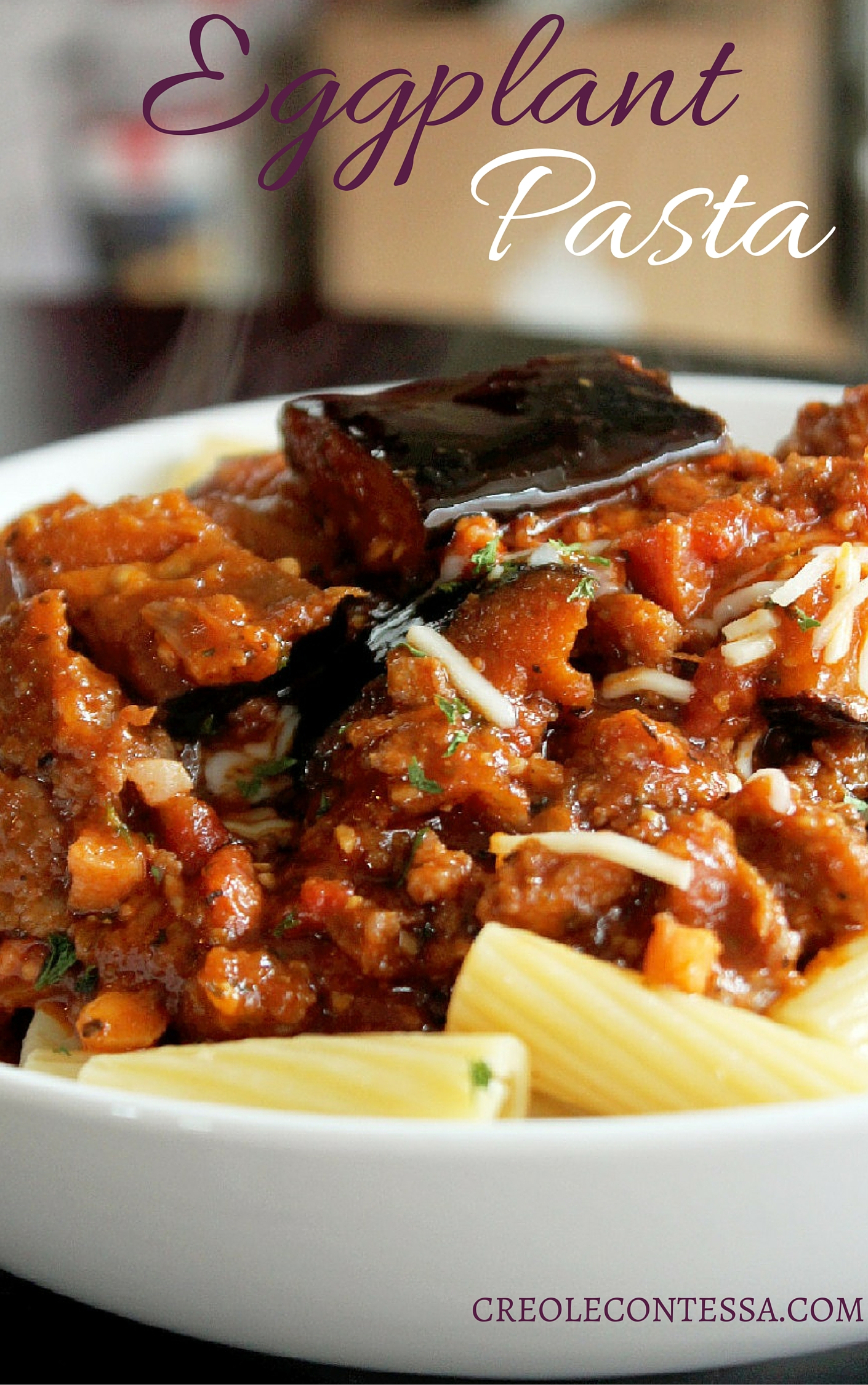 Pasta with Eggplant, Sausage and Pancetta-Creole Contessa