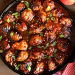 Asian Apple Salsa Meatballs