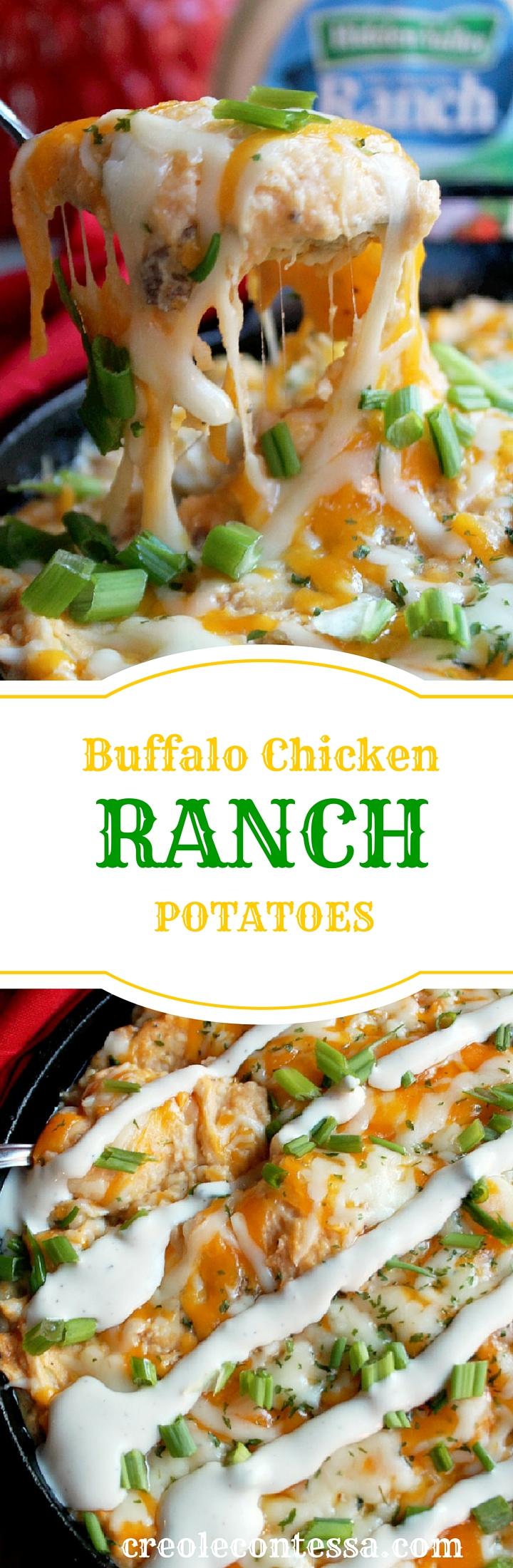 Buffalo Chicken Ranch Potato Casserole -Creole Contessa