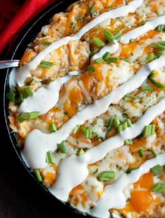 Buffalo Chicken Ranch Potato Casserole with Hidden Valley® Ranch