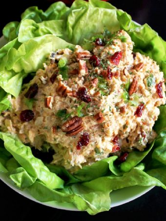Holiday Chicken Salad with Pecans and Cranberries