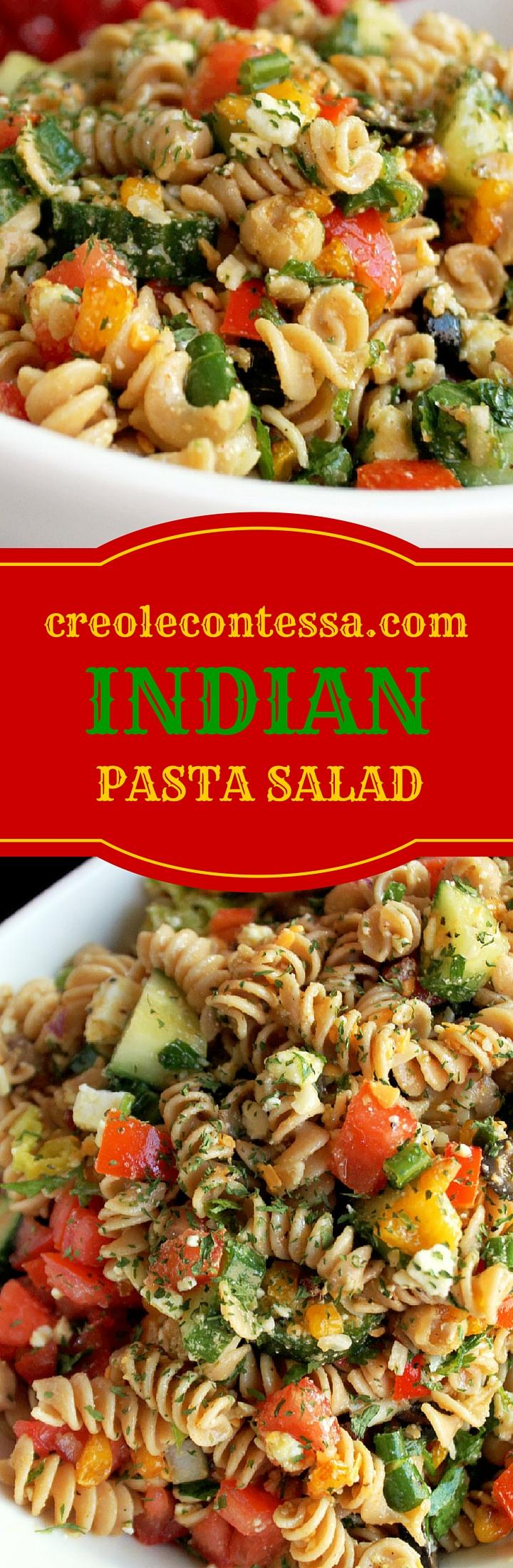 Indian Pasta Salad-Creole Contessa