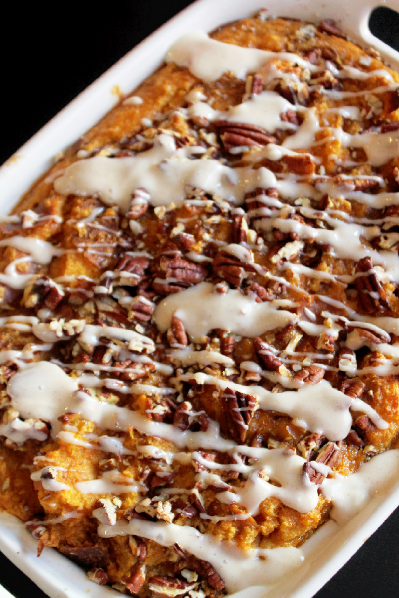 Pumpkin Pie Bread Pudding with Challah-Creole Contessa