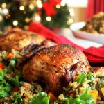 #ad Creole Cornish Hens with Rice Dressing