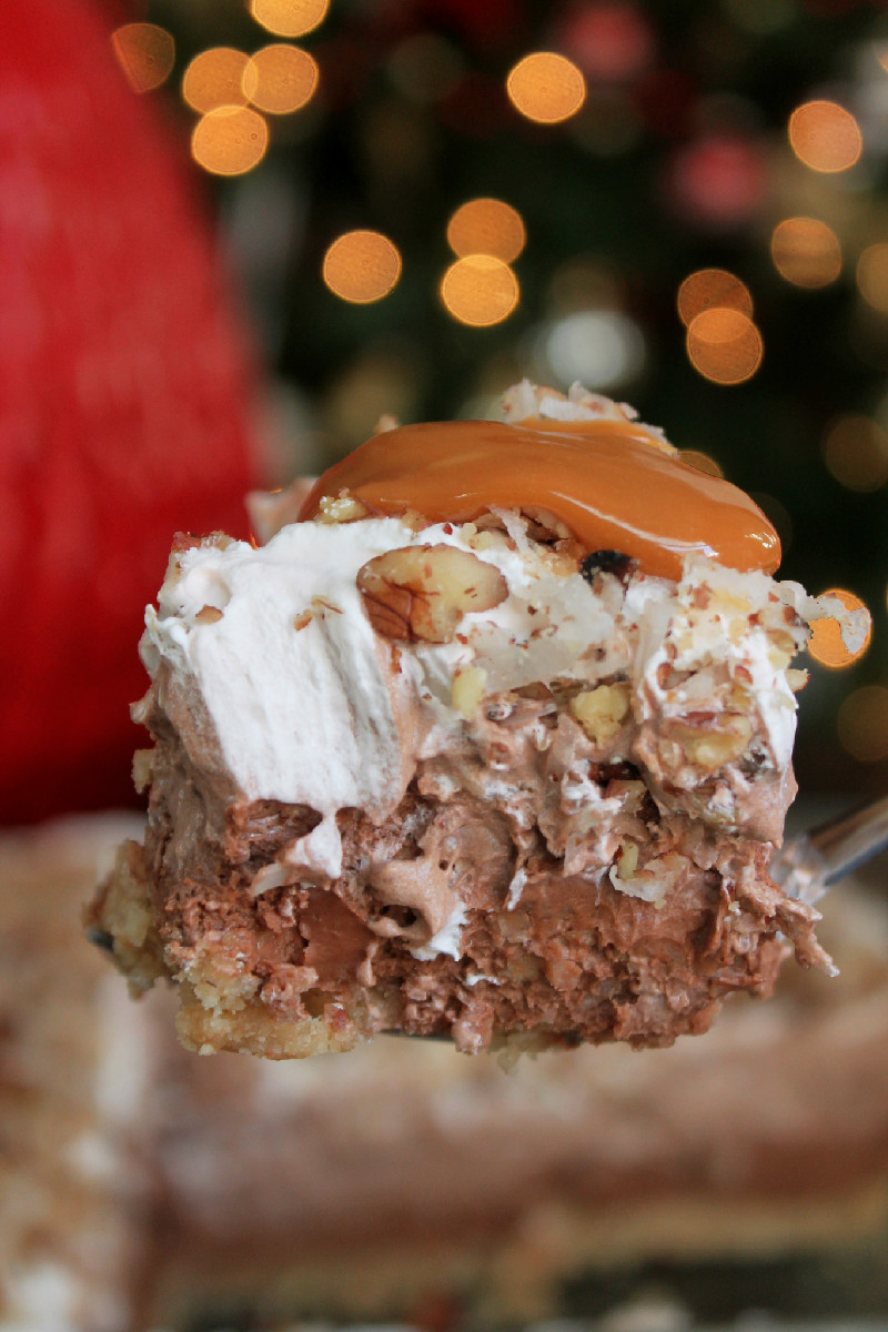 No Bake German Chocolate Cheesecake-Creole Contessa