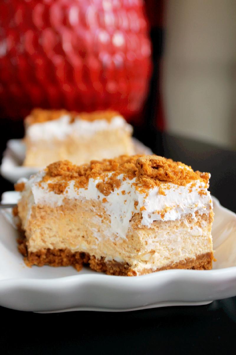 No Bake Pumpkin Cheesecake Lasagna-Creole Contessa