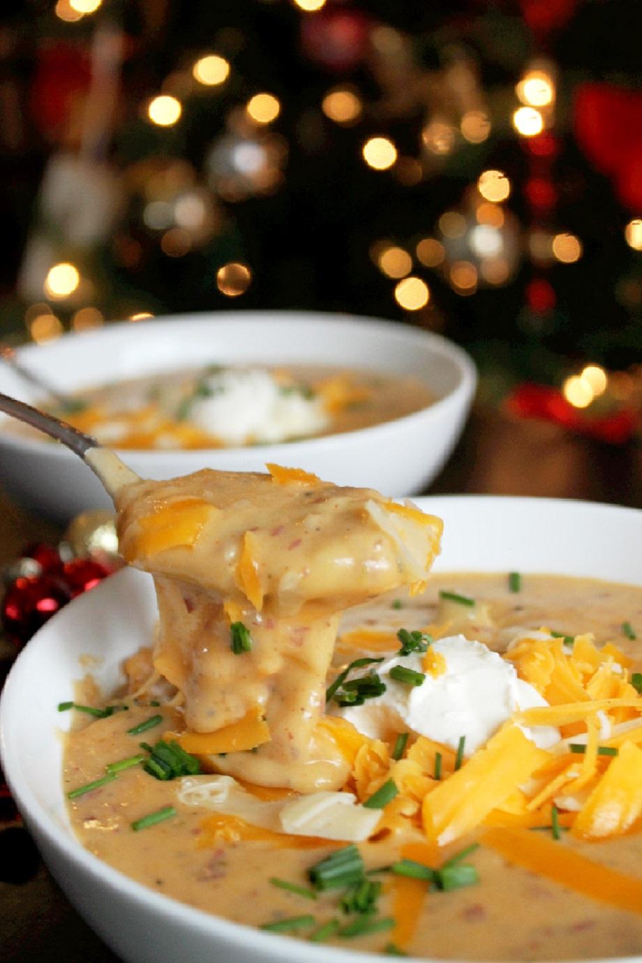 Slow Cooker Roasted Garlic Baked Potato Soup -Creole Contessa