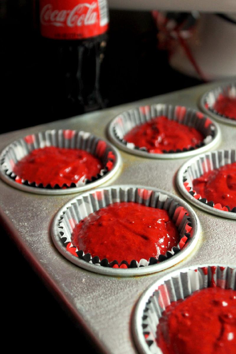 Coca-Cola Red Velvet Cupcakes-Creole Contessa