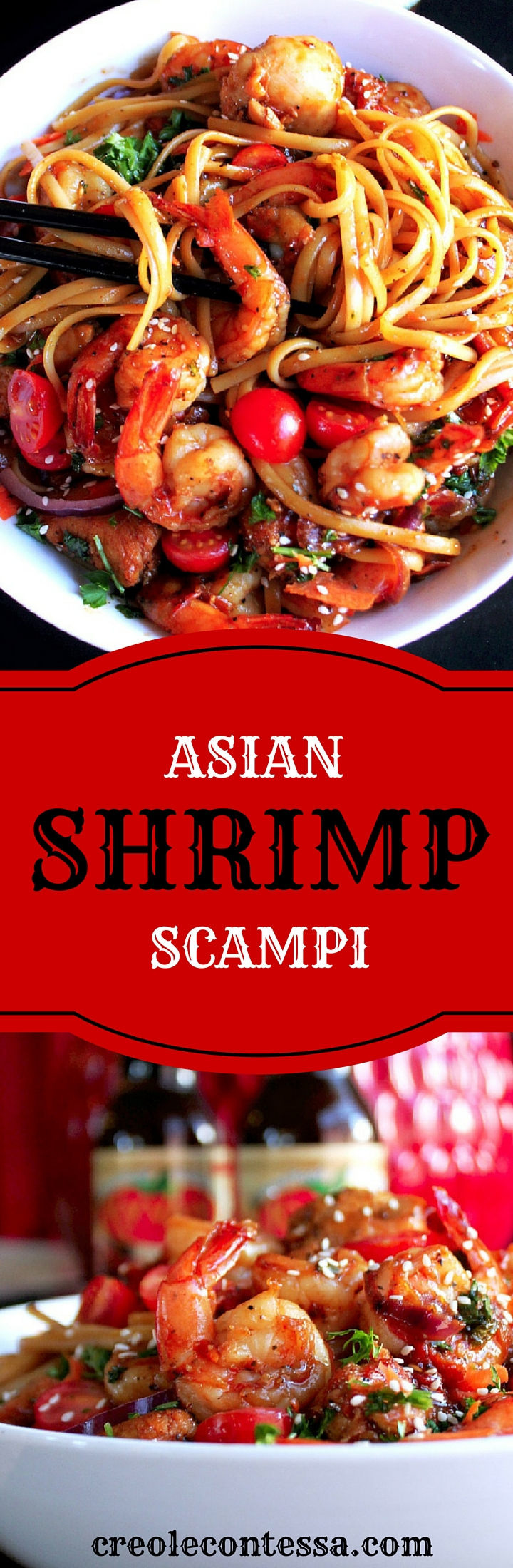 Asian BBQ Shrimp and Chicken Scampi-Creole Contessa