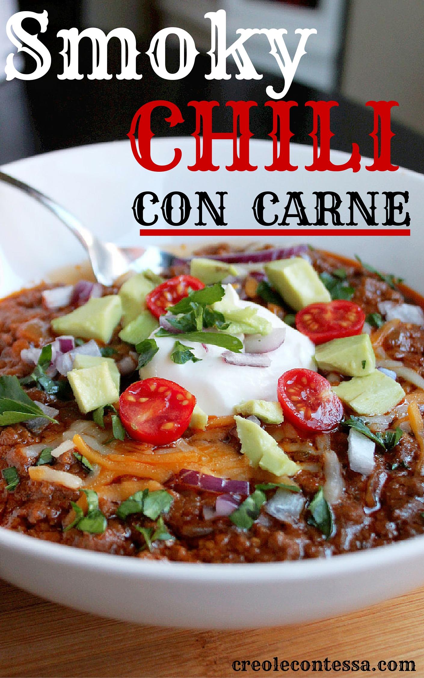 Smoky Beef Chili Con Carne-Creole Contessa