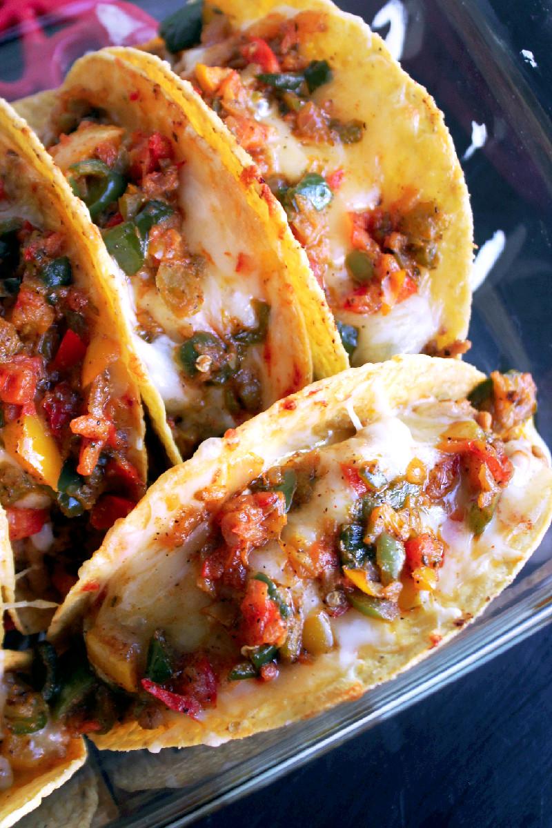 Baked Fajita Tacos-Creole Contess