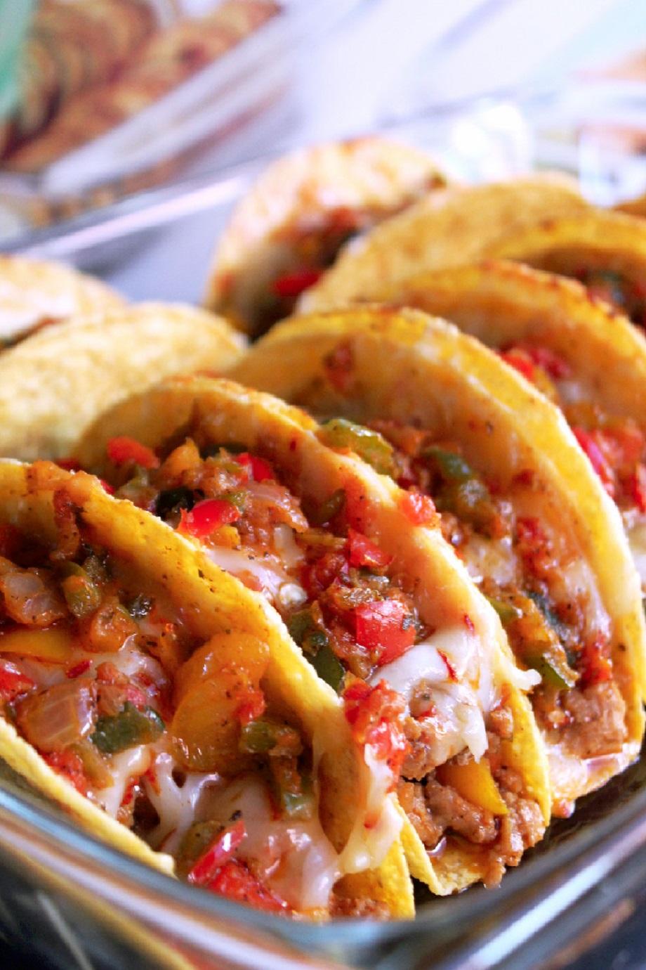Baked Fajita Tacos -Creole Contessa