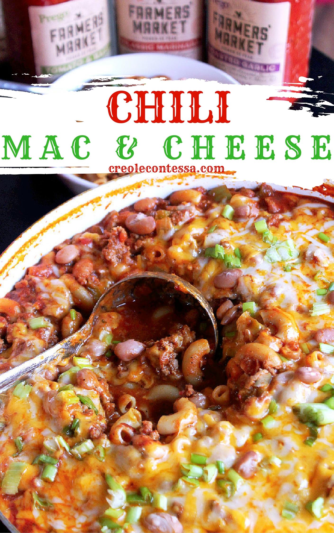 Chili Mac & Cheese with Prego® Farmers' Market-Creole Contessa