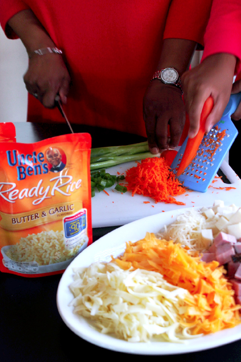 Ham & Cheese Baked Rice with UNCLE BEN'S®-Creole Contessa