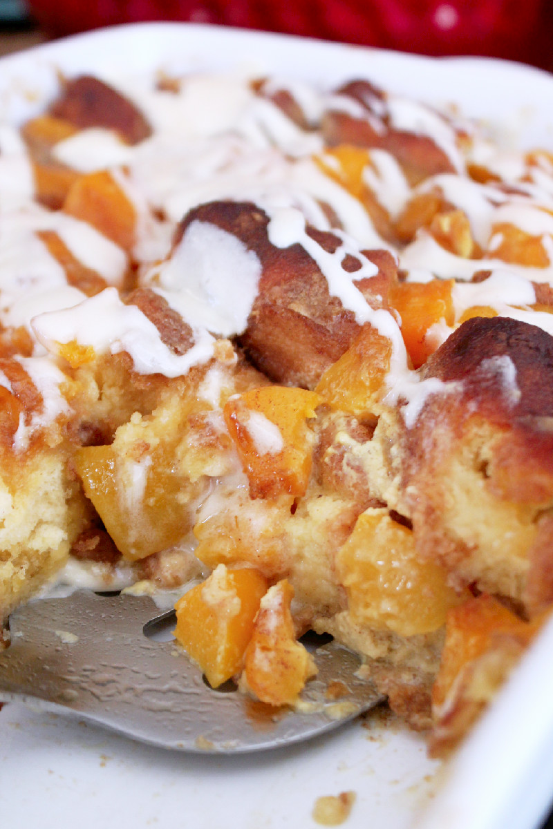 Peach Cobbler Bread Pudding-Creole Contessa