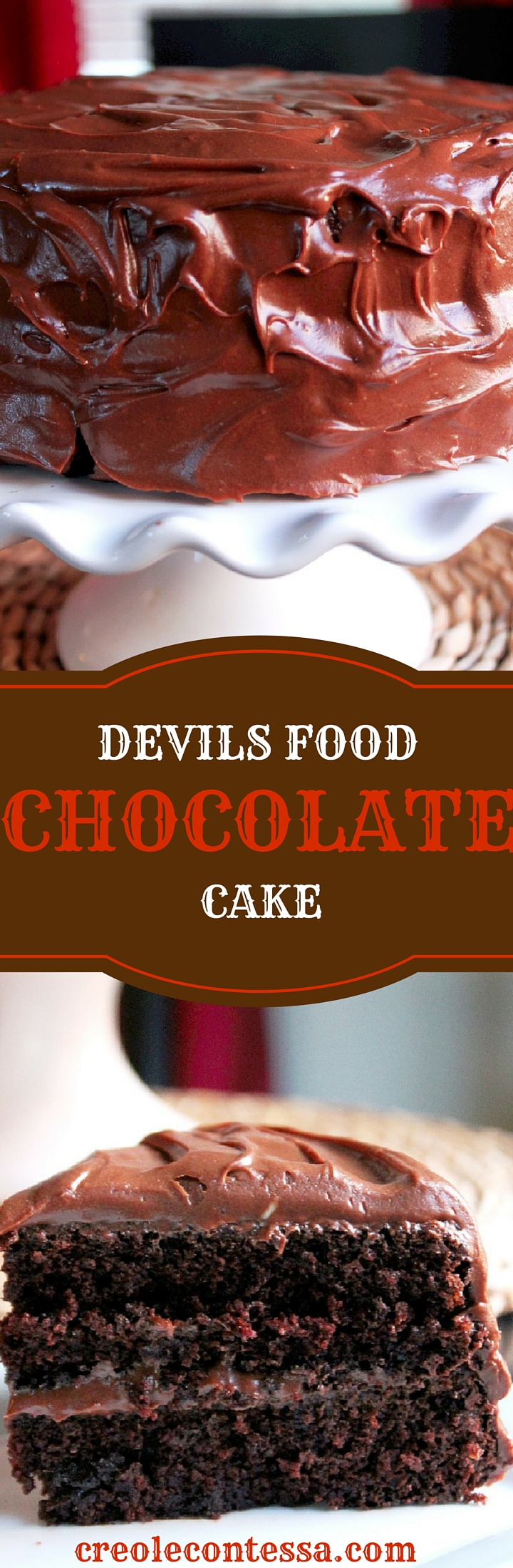 Devil's Food Chocolate Cake-Creole Contessa