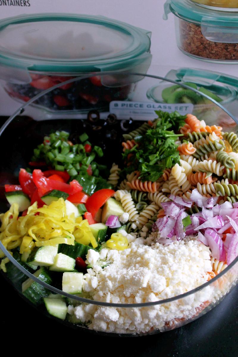 Greek Pasta Salad -Creole Contessa