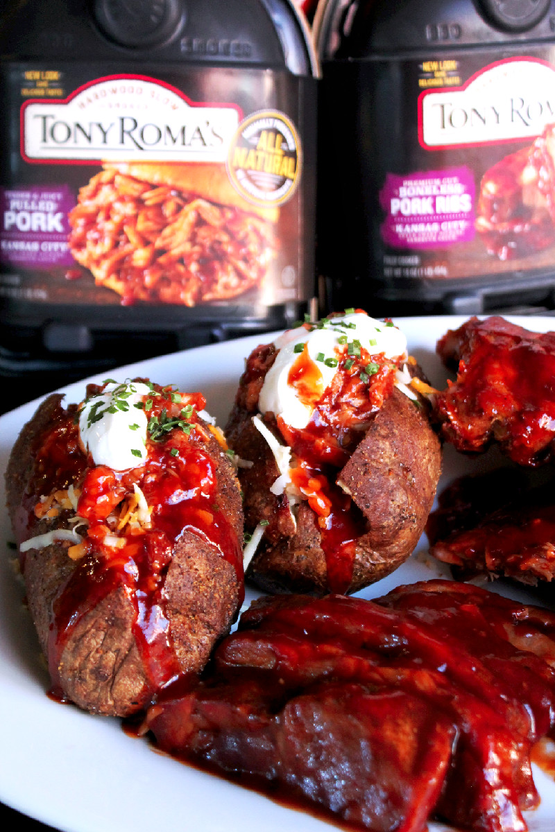 Pulled Pork Stuffed Potatoes with Tony Roma's -Creole Contessa