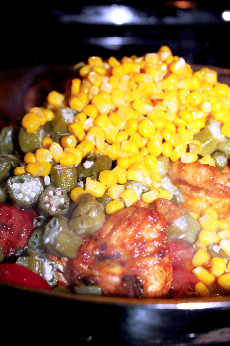 Fried Okra and Corn-Creole Contessa