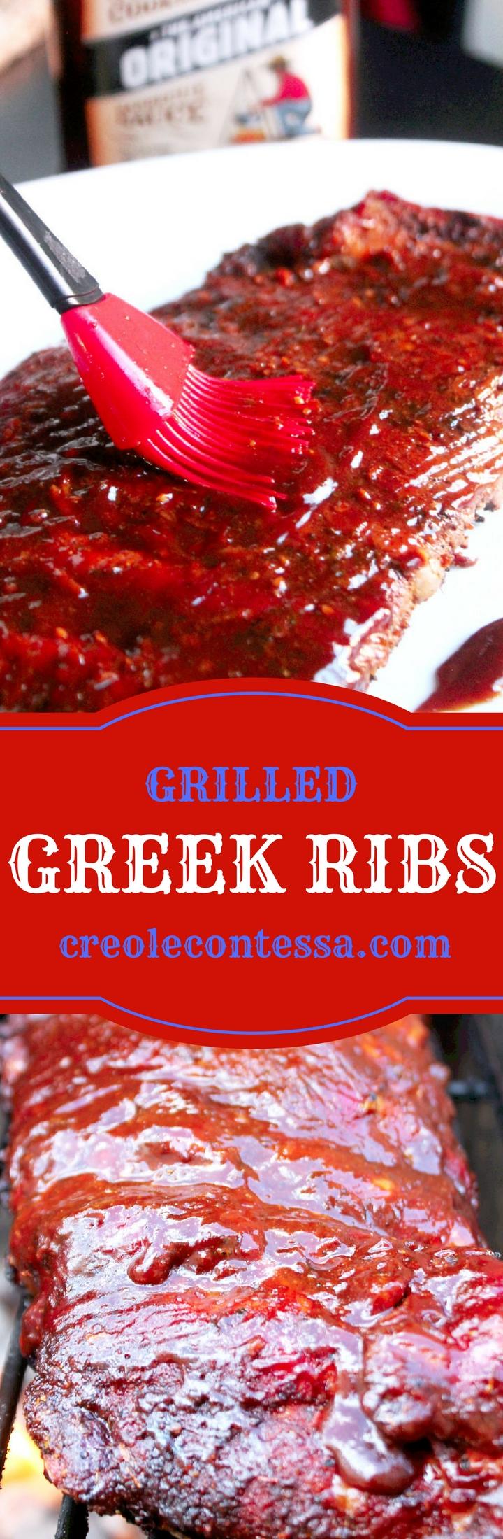 Grilled Greek Ribs-Creole Contessa