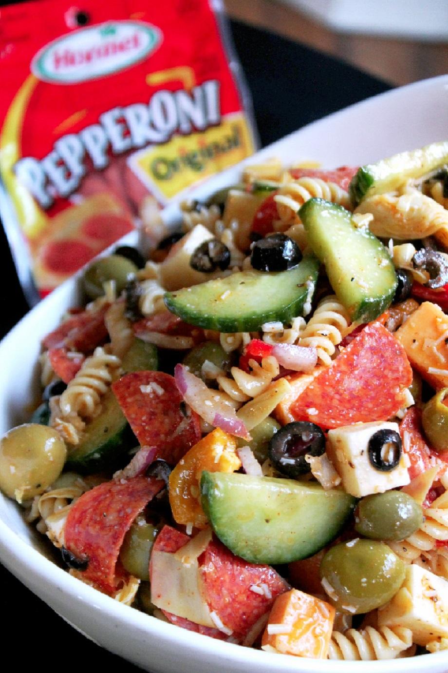 Pepperoni Madness with HORMEL®Pepperoni Pasta Salad-Creole Contessa
