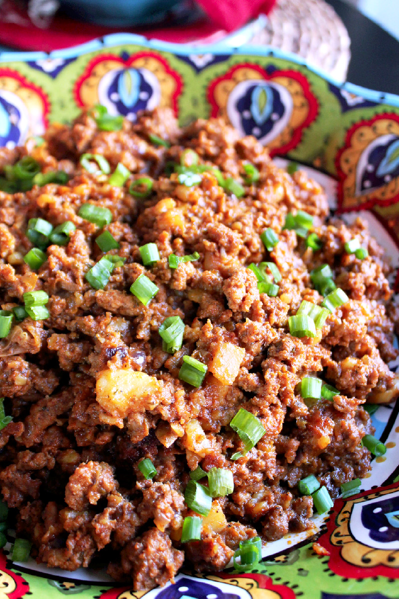 Picadillo with Papas (Potatoes)-Creole Contessa