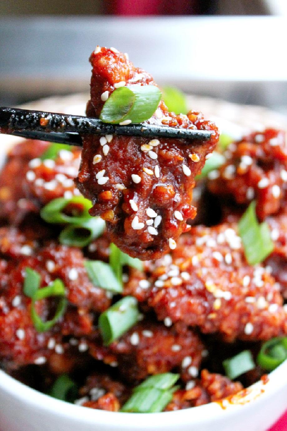 Korean Hot Chicken Nuggets-Creole Contessa