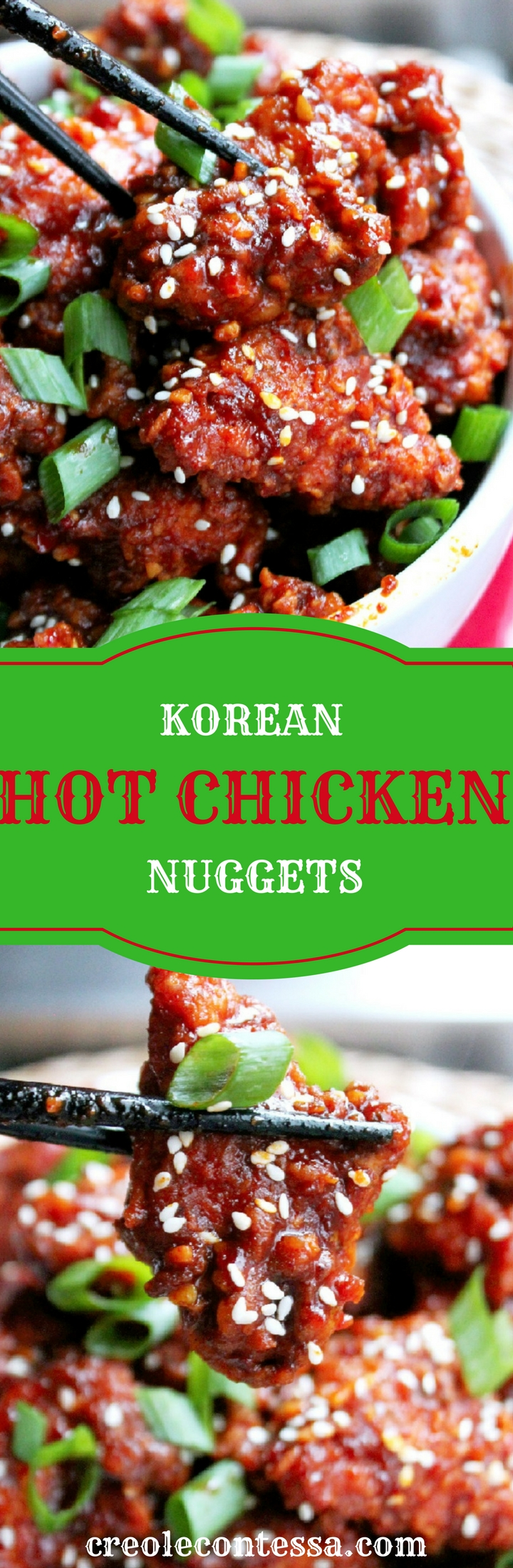 Korean Hot Chicken Nuggets-Creole Contessa