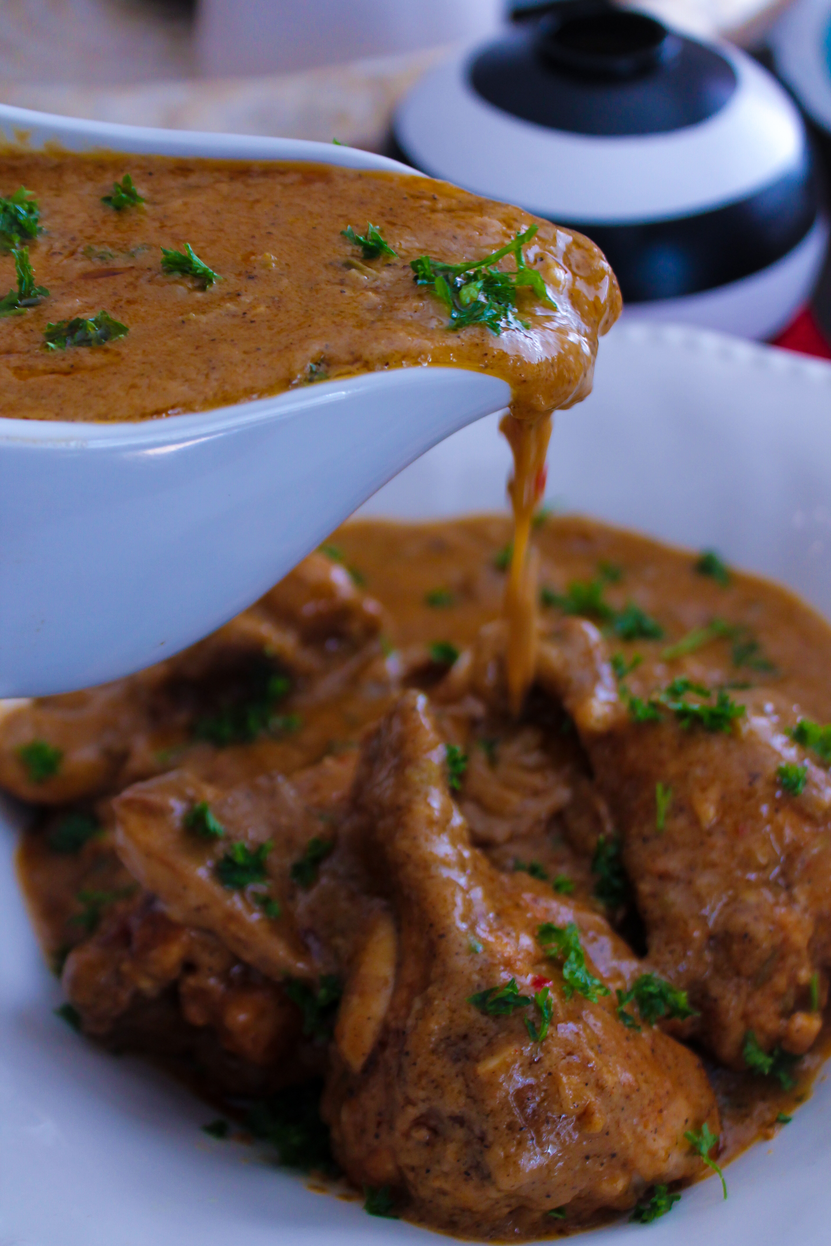 Smothered Chicken With Creamy Mushroom Gravy Creole Contessa