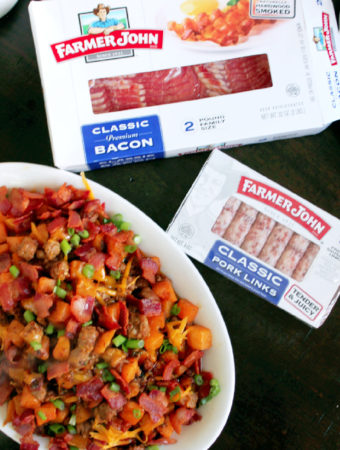 Roasted Butternut Squash Hash with Farmer John® Classic Premium Bacon and Farmer John® Classic Pork Sausage Links
