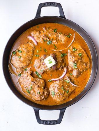 Herb Butter Pork Loin Chops