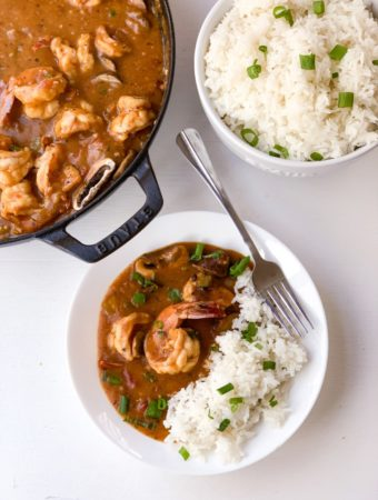 Shrimp and Andouille Sausage Fricassee