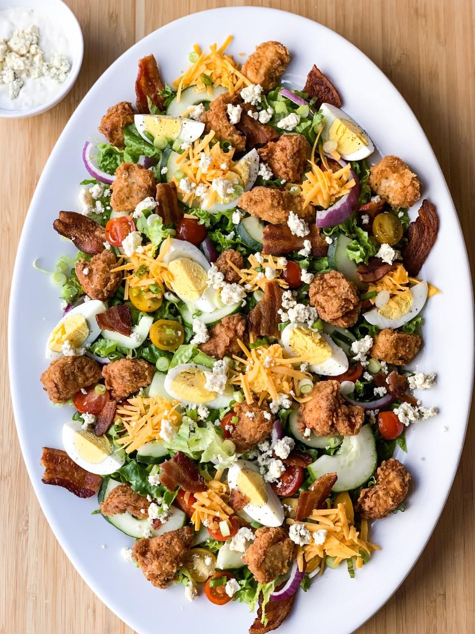 Fried Chicken Salad Creole Contessa
