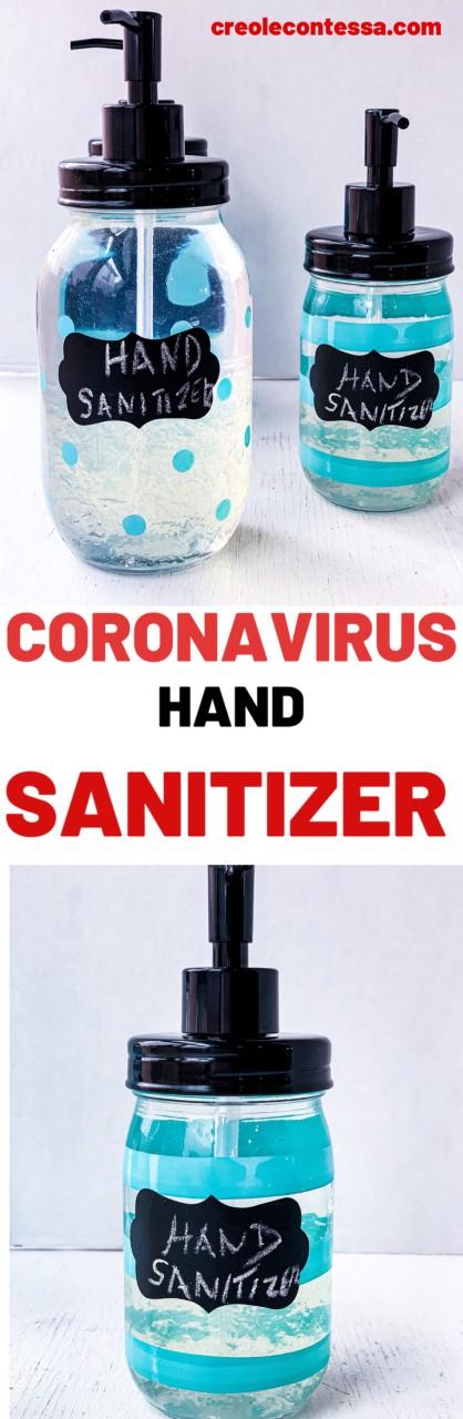 Coronavirus Hand Sanitizer DIY